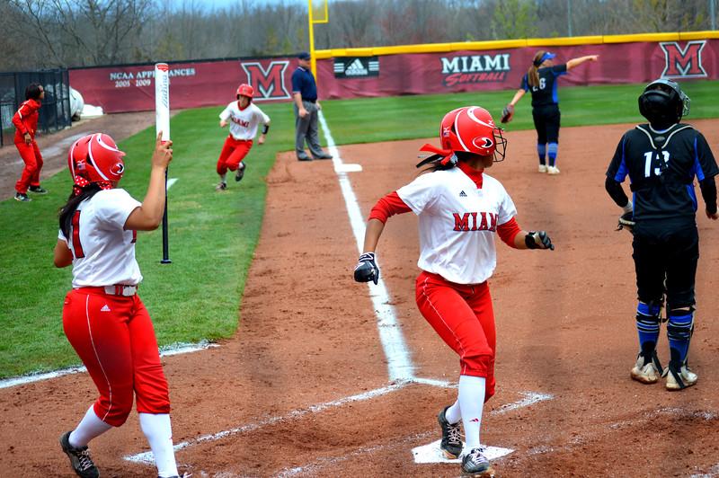 Miami Softball Scores Two Runs