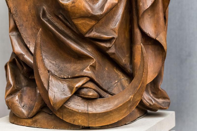 Riemenschneider: Muttergottes aus Tauberbischofsheim, Detail (1510/20) [aus Bode-Museum Berlin]
