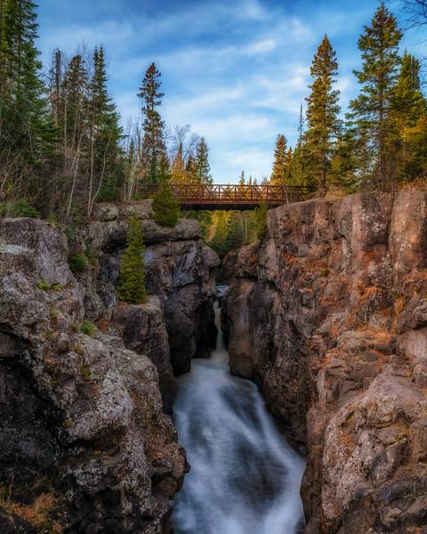 Hidden Falls on the Temperance River