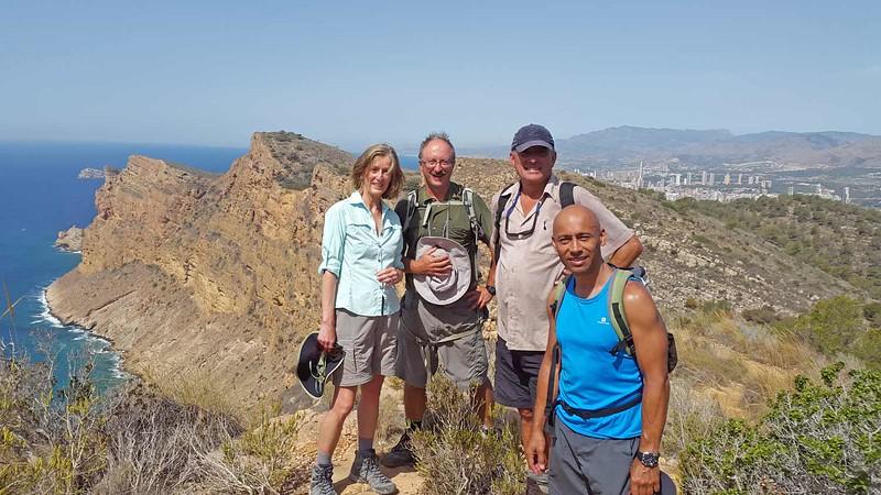 On the Serra Gelada near Benidorm with Tom, Nora, Alfred and Erle