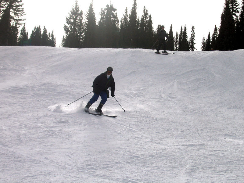Rich took this picture of Ahsan skiing.