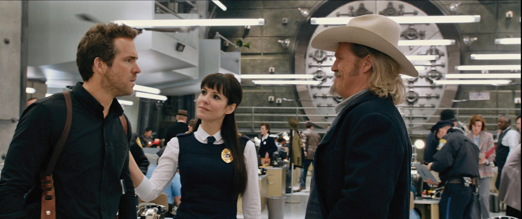 """. Ryan Reynolds, left, and Jeff Bridges, far right, are eternal lawmen in the action comedy \""""R.I.P.D.\"""" Provided by Universal Pictures."""