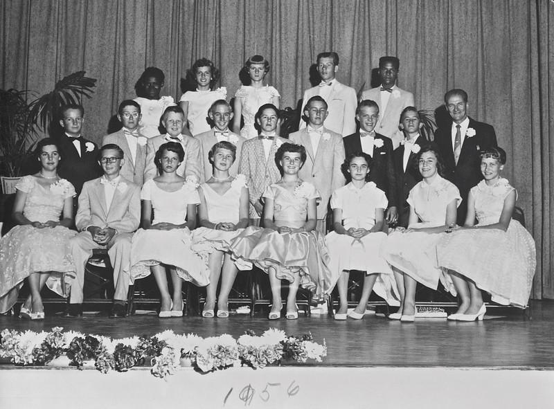 Maple school graduating class 1956