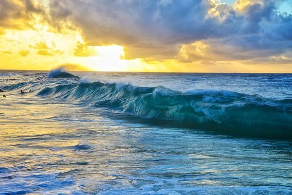 Sandy Beach Sunrise - O'ahu, Hawai'i