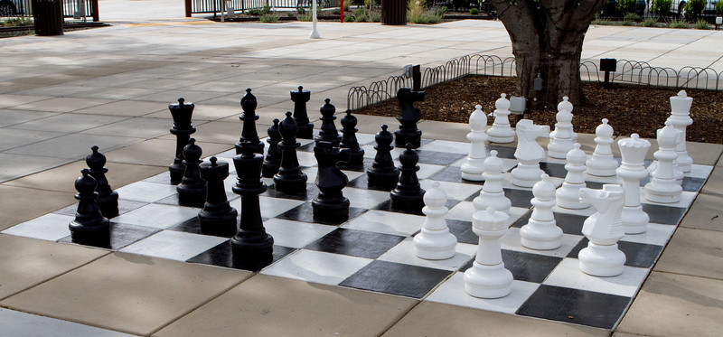 A giant chess board.