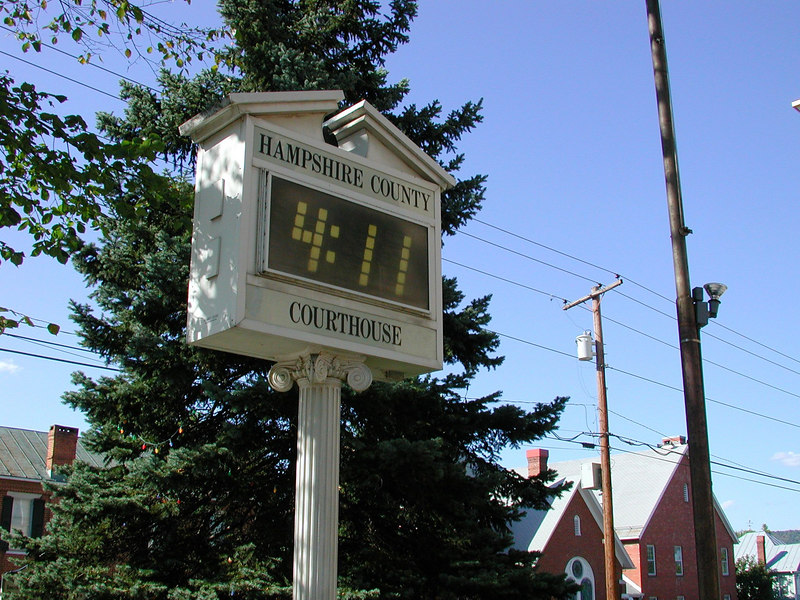The Hamshire Courthouse Clock, in Romney, WVA.