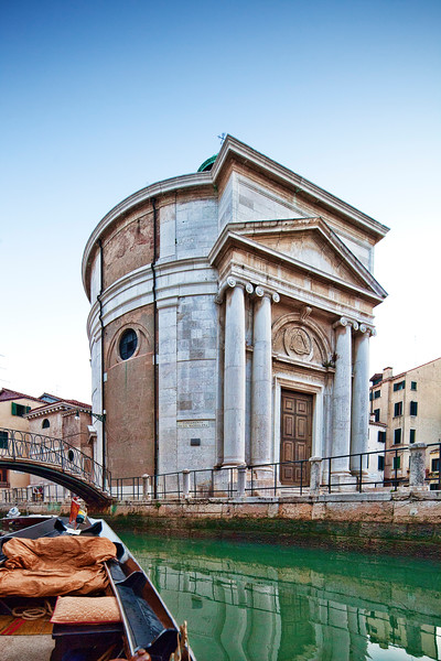 Maddalena church from a gondola, Cannaregio, Venice, Italy