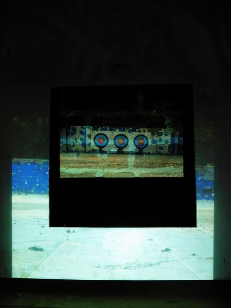 Open Target - 2014 - projection - found objects