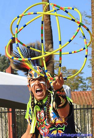 Native American Hoop Dancers
