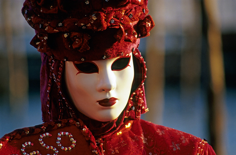 Person Wearing Carnival Mask, Venice (Italy)