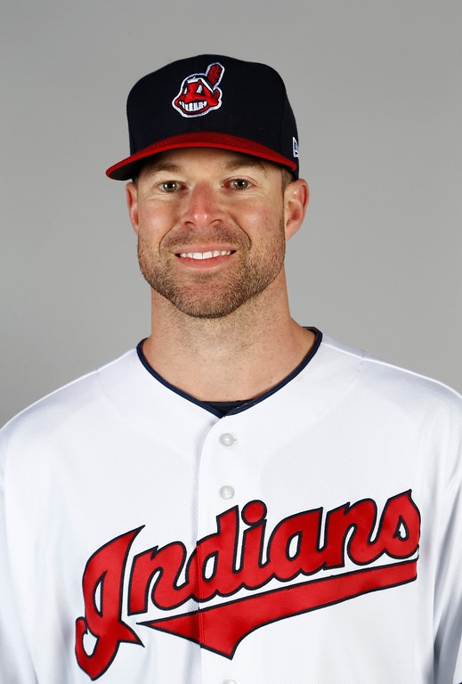 . Cleveland Indians pitcher Corey Kluber poses for a picture on photo day at the team\'s baseball spring training facility Friday, Feb. 24, 2017, in Goodyear, Ariz. (AP Photo/Ross D. Franklin)