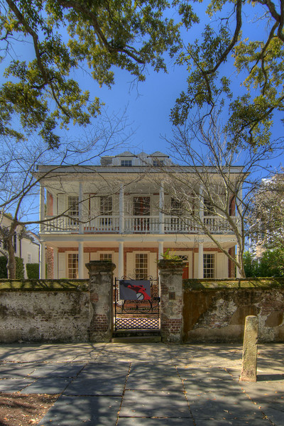 This historical home was built circa 1743 by George Eveleigh, located at 39 Church Street in downtown Charleston, SC on Saturday, March 9, 2013. Copyright 2013 Jason Barnette
