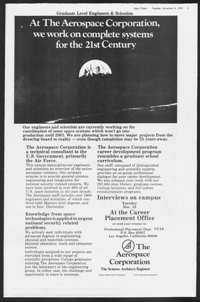 Daily Trojan, Vol. 87, No. 36, November 06, 1979
