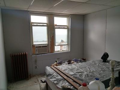 5212 Ditman st. NE Phila. Room walls sheetrocked.