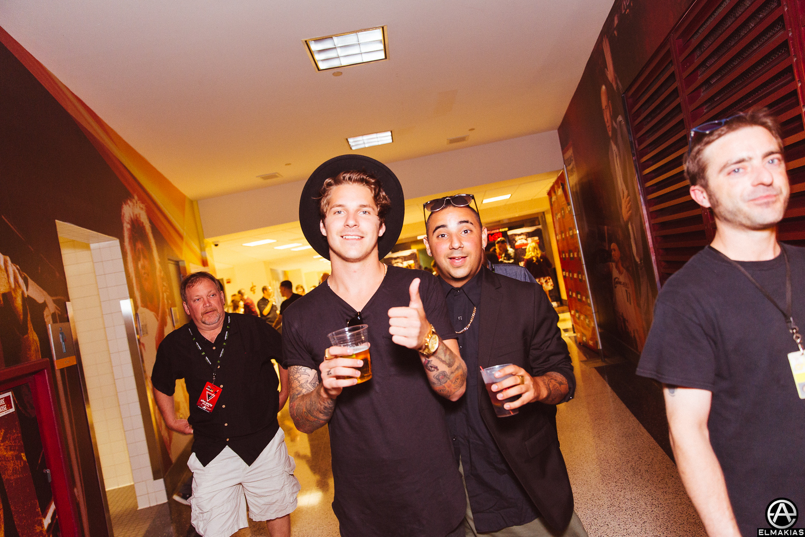 Trevor Wentworth of Our Last Night and Louis Miceli Jr of Palisades at the APMAs 2015 by Adam Elmakias