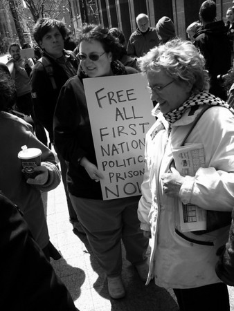 Free First Nations Political Prisoners rally
