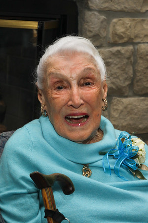 January 28, 2018. Vermilion celebrates Dawn Full's 100th birthday at the Boat Club,