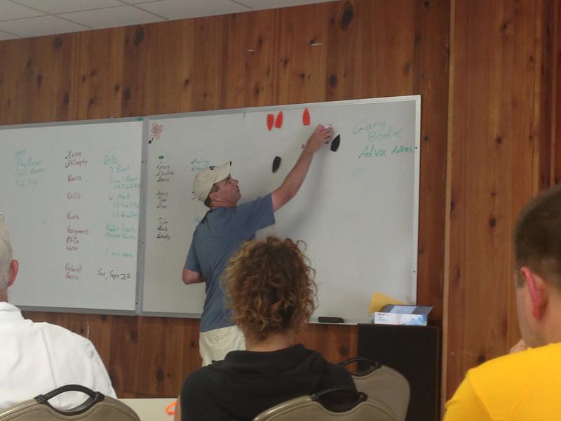 6/22 Hampton Team Race Scrimmage - Gary Bodie explaining the drills.