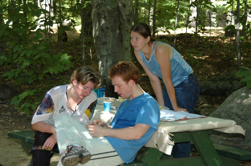 Abby Noyce, Ellen O'Keefe and Tim Colgan
