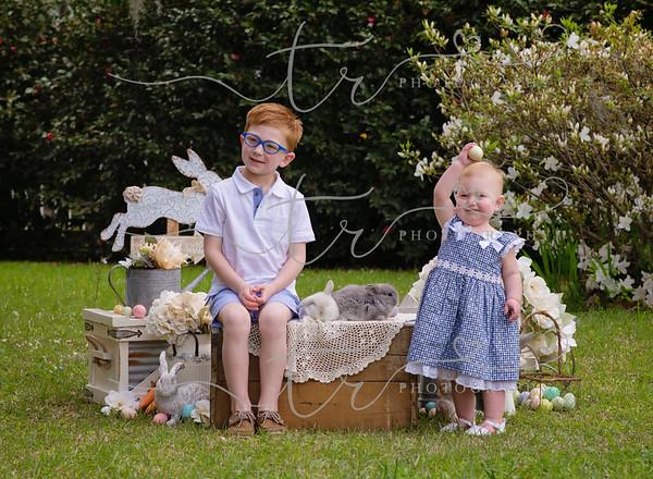 Hayden & Peyton~Easter Bunny