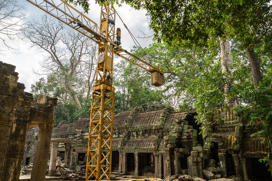 Ta Prohm Construction Crane