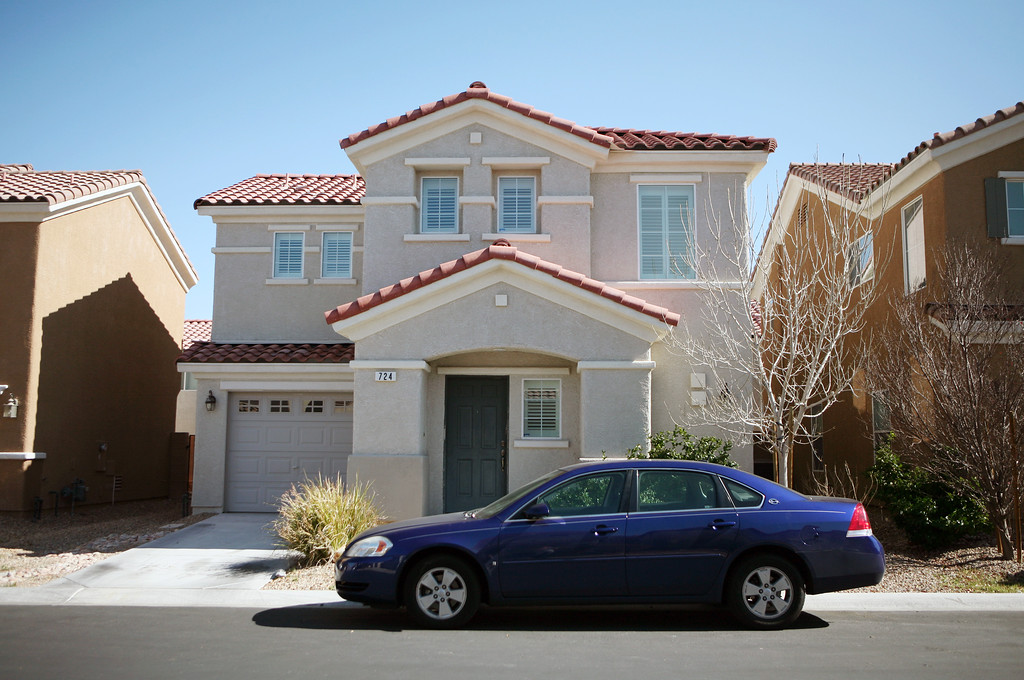 . Christopher Jordan Dorner\'s Las Vegas home, located at 724 Loughton St., is shown Thursday, Feb. 7, 2013, in Las Vegas. Police have launched a massive manhunt for the former Los Angeles officer suspected of killing a couple over the weekend and opening fire on four officers early Thursday, Feb. 7, 2013, killing one and critically wounding another, authorities said. Mandatory Credit (Ronda Churchill/Las Vegas Review-Journal)