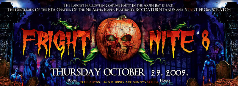 Fright Nite 8 @ Abyss Night Club 10.29.09