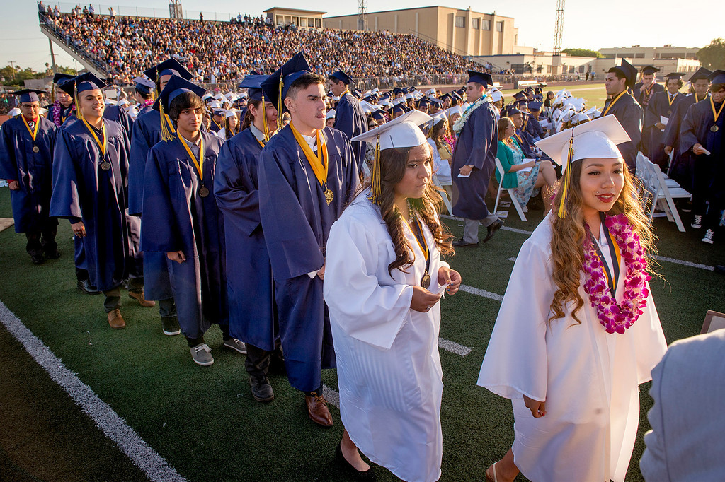 . Montebello High School Class of 2014 commencement exercises June 19, 2014.  (Staff photo by Leo Jarzomb/Whittier Daily News)