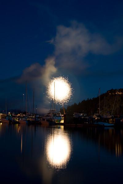 Deer Harbor Fireworks 2007