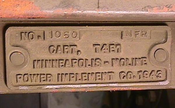 T4E1 MINNEAPOLIS-MOLINE CART #1060 1943