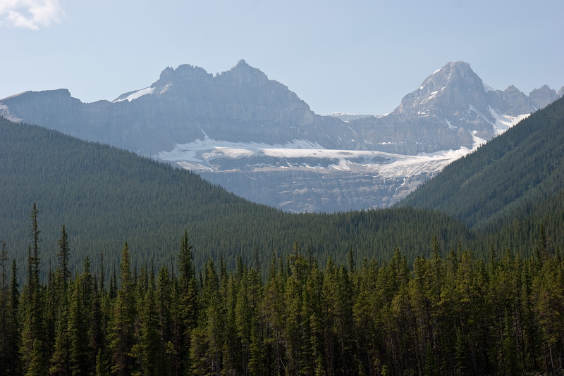 Mountains Along Icefields Parkway