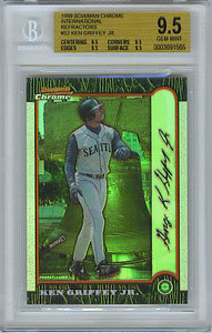 1999 Bowman Chrome International Refractors