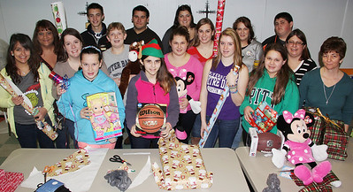 Youth Group Wrapping Party, St. Jerome Church, Tamaqua (12-22-2013)