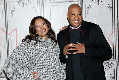 """NEW YORK, NY - OCTOBER 13:  Justine Simmons and Joseph """"Rev. Run"""" Simmons attend AOL Build Presents: to discuss Ask.Screen.Know at AOL Studios In New York on October 13, 2015 in New York City."""