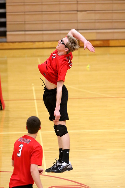 Varsity volleyball vs Glen Este 4-11-17