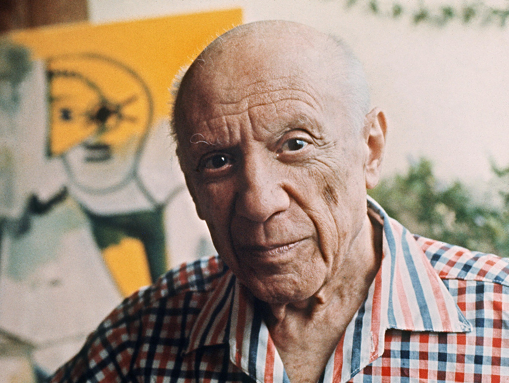 . This file pictured dated 13 October 1971 shows Spanish painter Pablo Picasso in Mougins, France. (RALPH GATTI/AFP/Getty Images)