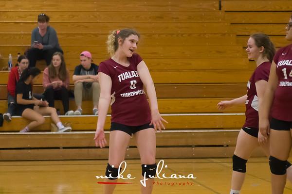 2018-10-02 Tualatin JV Volleyball vs Lakeridge