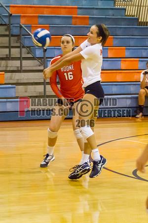 Dr. Phillips @ Boone Braves Girls Varsity Volleyball - 2016