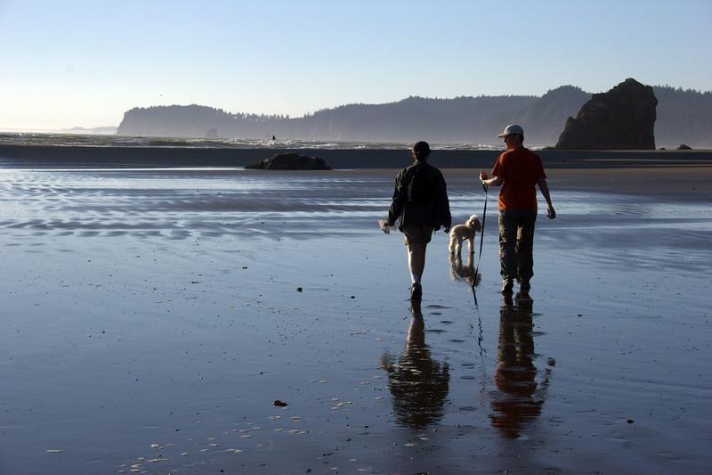 Ruby Beach: Walking on mirrors