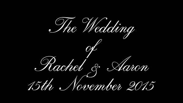 Rachel wedding video