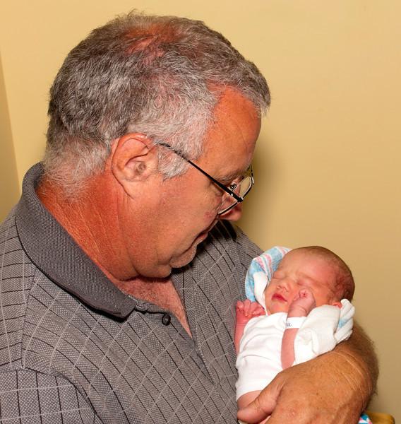 Newborn with Grandpa