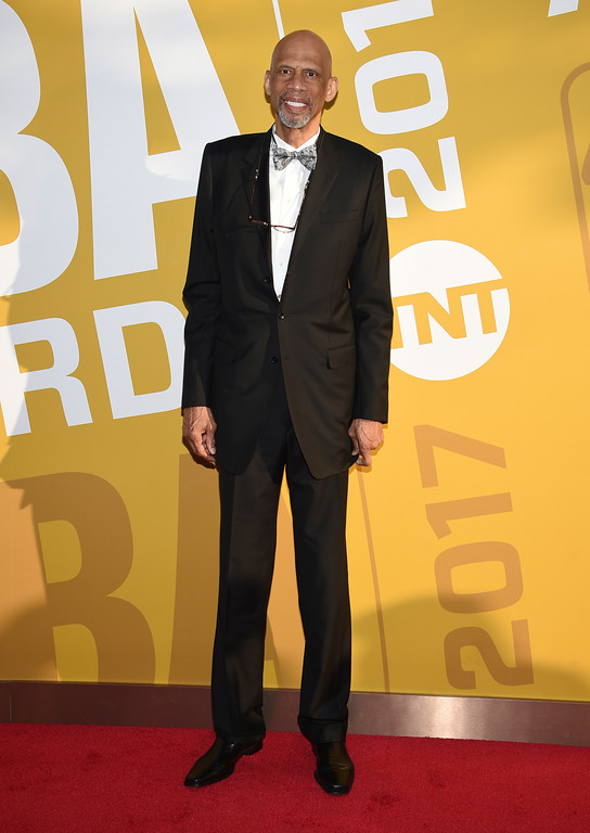 . Kareem Abdul-Jabbar arrives at the NBA Awards at Basketball City at Pier 36 on Monday, June 26, 2017, in New York. (Photo by Evan Agostini/Invision/AP)