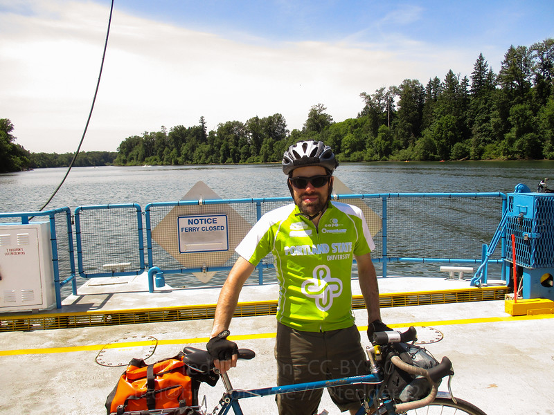 On the Canby Ferry.