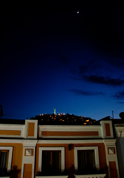 View of Quito from our hotel