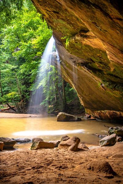 Lower Falls At Hocking Hills