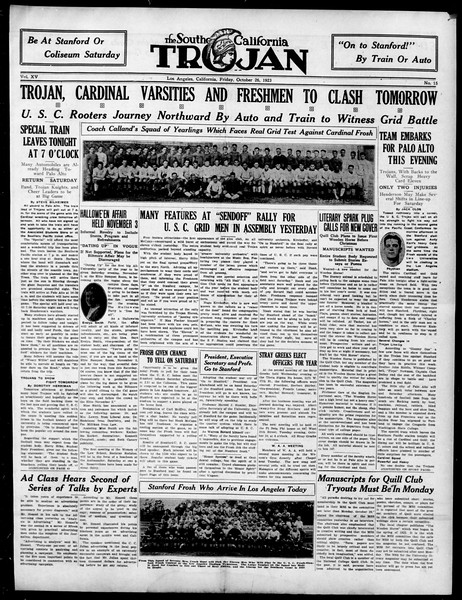 The Southern California Trojan, Vol. 15, No. 15, October 26, 1923