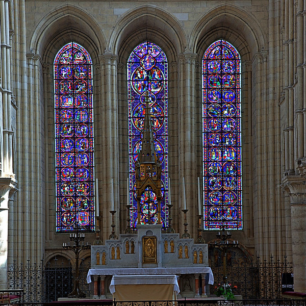 Laon Notre-Dame Cathedral Choir Lancet Windows