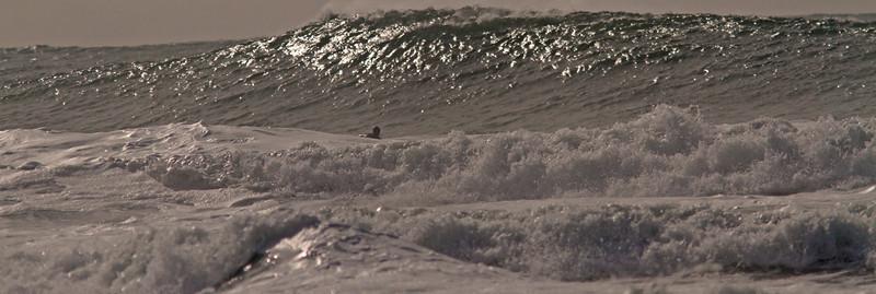 Ocean Beach Ten Footer Approaching Surfer