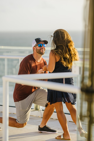 St Pete Beach Wedding Proposal at Level 11 Grand Plaza