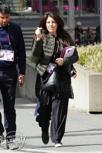 Monica Lewinsky Wraps Up For Ted Talks in Vancouver, Canada